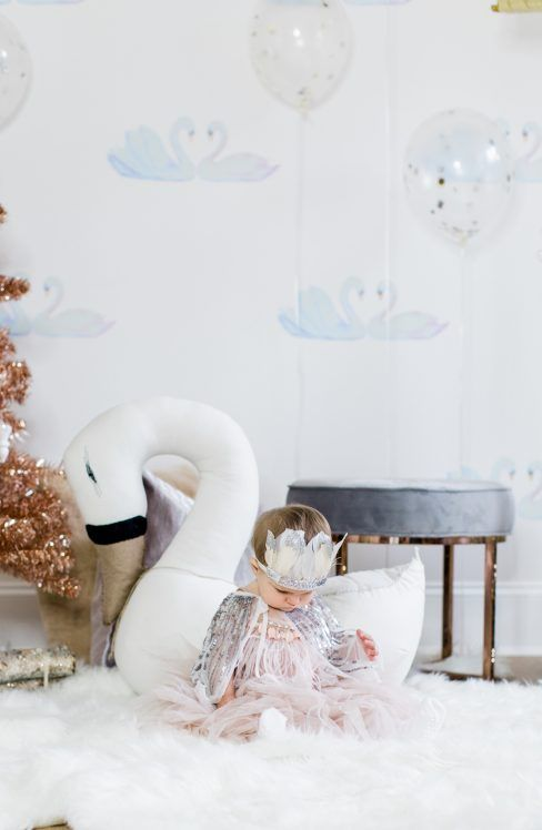 Lillya's 1st Swan Lake Birthday Party |
