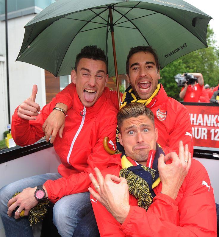 FA Cup joy. Arsenal's FA Cup winners parade 2015.