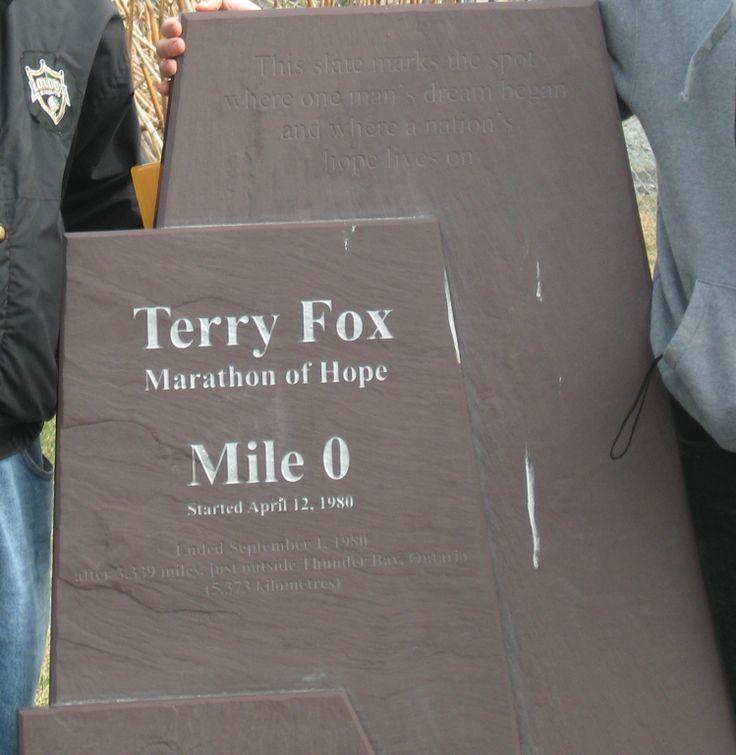 Terry Fox Mile 0 Monument St. John's, Newfoundland, Canada