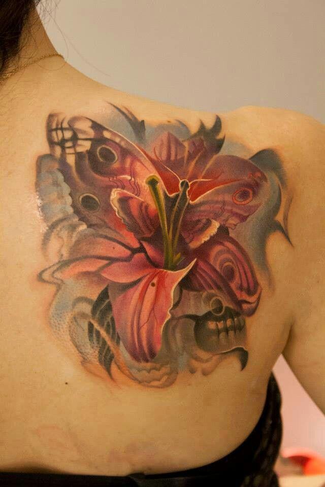 Skull Tattoo Girly Tattoo Heart Tattoo Butterflies Tattoo A Tattoo ...