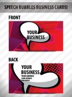creative speech bubble business card vector graphic