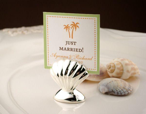 seashell place card holder 8 pcs beach wedding