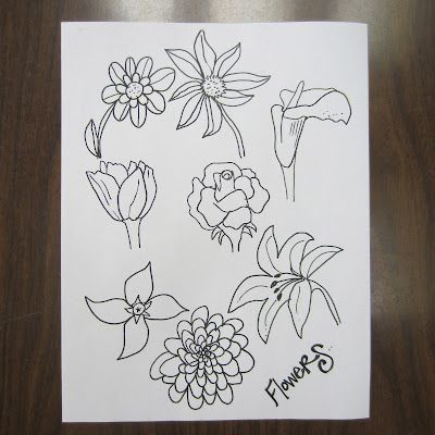 how to draw doodle flowers