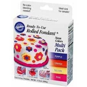 Wilton Rolled Fondant Assortment - Neon Golda's Kitchen