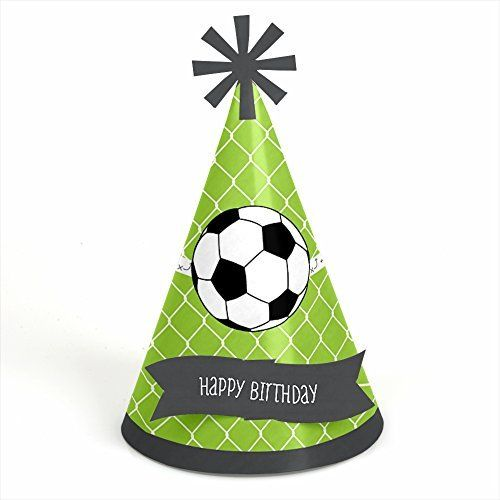 GOAAAL  Soccer Cone Happy Birthday Party Hats  Set of 8 * Check out the image by visiting the link.Note:It is affiliate link to Amazon.