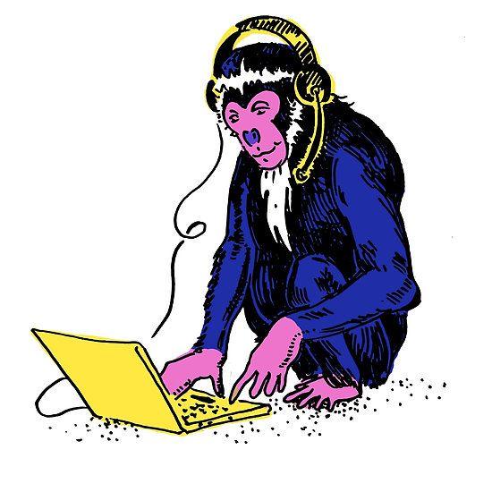 Monkeying at Laptop