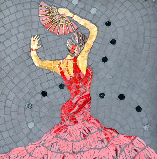 Red Dancer By Jyoti Dias Mosaic Art Mosaic Mosaic Art