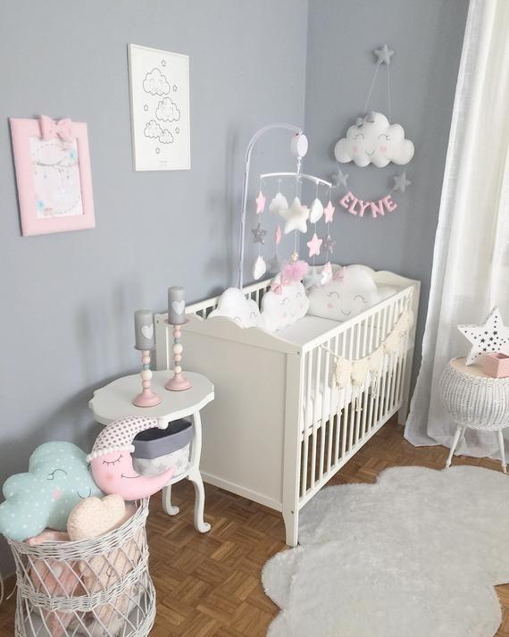 Cloud Wreath Baby Room Decor Nursery Baby Room Girl Room