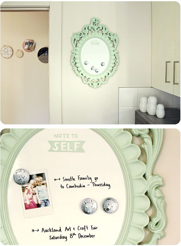 DIY: custom whiteboard... i have tons of these from when my girl was a baby now i have an idea on how to use them :0)