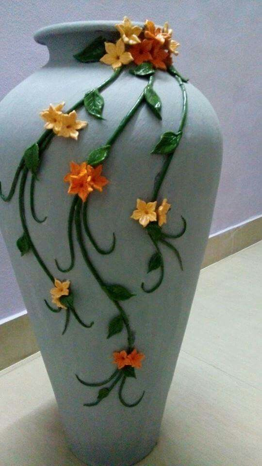 Best 25 painting clay pots ideas on pinterest painted for Big pot painting designs
