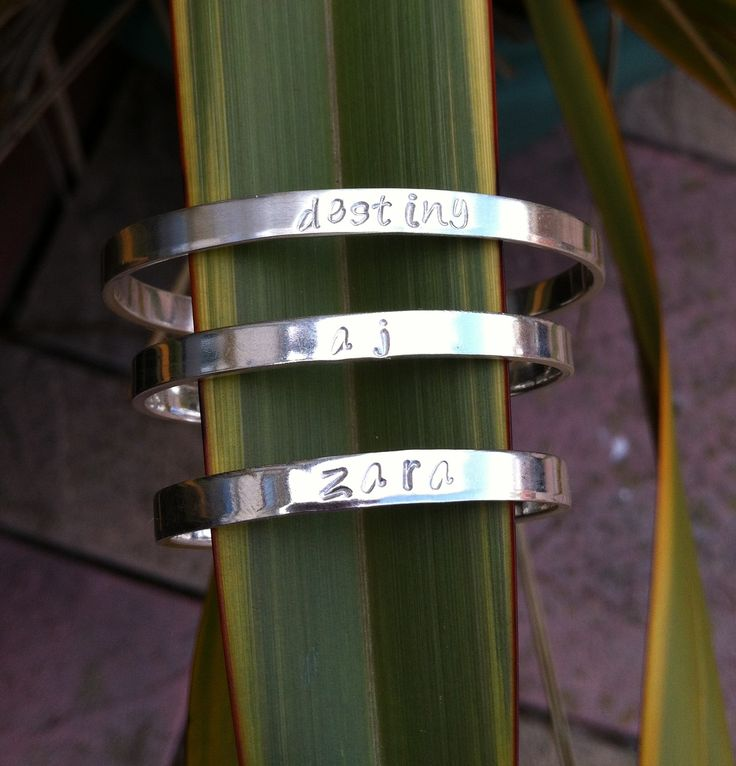 Sterling silver brother and sisters matching cuff bangles Prices from £25  #jewellery #supermumscraftfair #bangle #silver http://pict.com/p/xJ