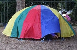 """Parachute dome - a parachute is fab for den building ("""",)"""