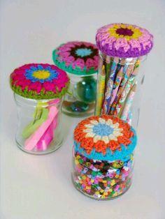 crochet jar covers!