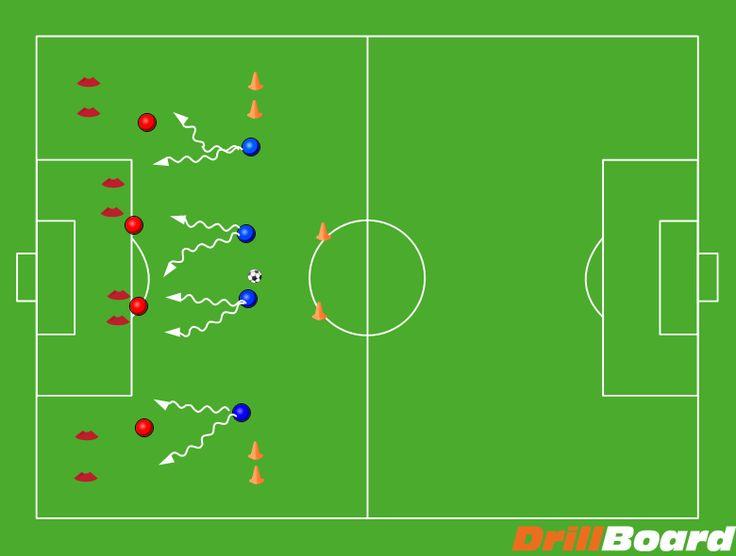 Defense session #football #soccer #coach #drills