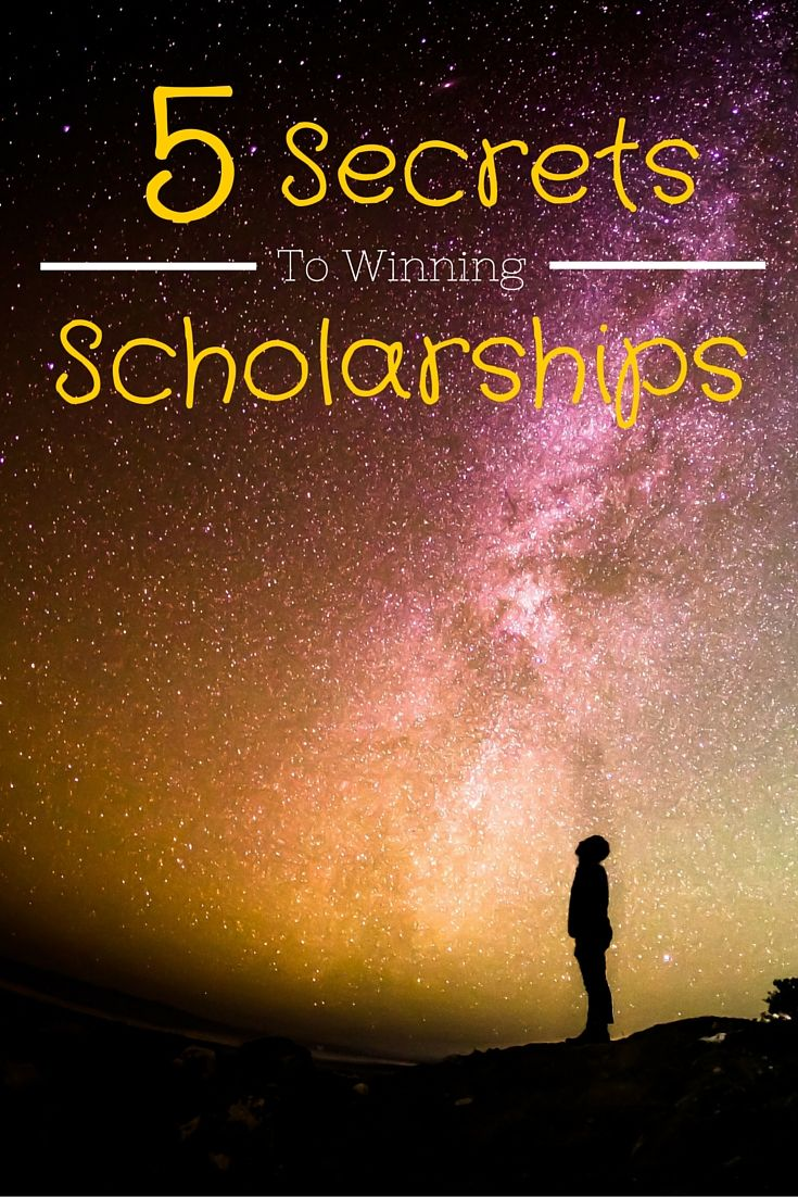 The 5 secrets that I have learned and used to win over $25,000 worth of scholarships! You won't find them anywhere else...