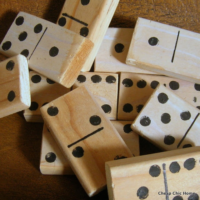 Diy Wooden Dominos Crafts Game Room Decor Wooden Diy