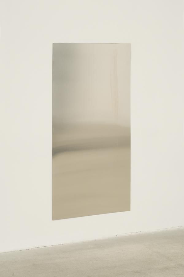 Roger Hiorns - Untitled, 2007 silver, amyl nitrate 39.375 x 19.625 x 0.2 D inches