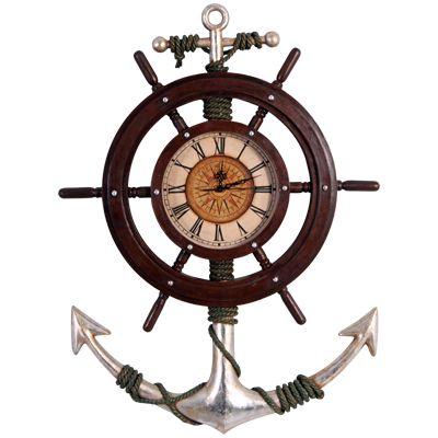 Reloj timón de barco | DECORACIÓN TEMÁTICA ESCULTURAS DECORADOS TEMATIZACIÓN FIGURAS CORPÓREOS FICTICIOS FOAM SCULPTURES FOAM SCULPTOR POLIEXPAN POLIESPAN POREX POREXPAN