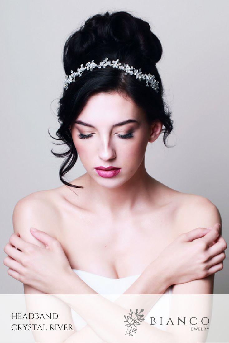 Opaska ślubna Crystal River / Wedding headband Crystal River  wedding inspiration / wedding hairstyle / glamour wedding / beautiful wedding