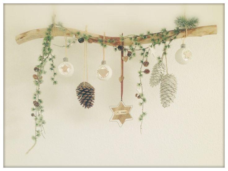 Deko Ast Winter Weihnachten