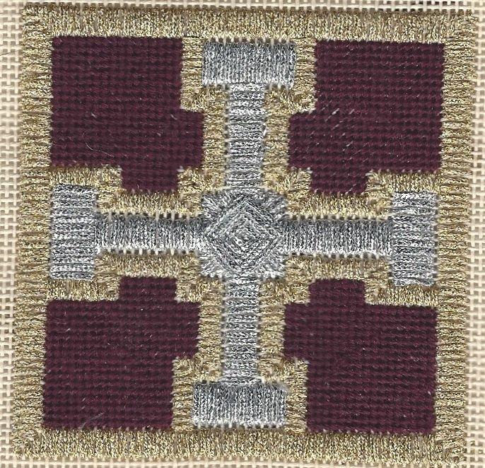 Christmas Cross - Free Needlepoint Pattern, copyright Napa Needlepoint