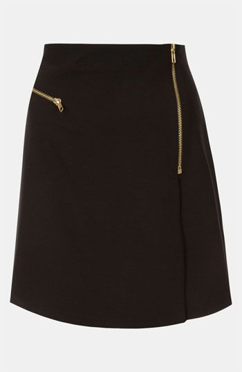 Topshop Flannel Faux Wrap Skirt available at #Nordstrom