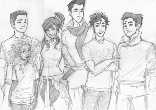 burdge: that one drawing i showed you guys in that one video… the one that compared the LoK babes with the HoO cuties. anyway, you guys asked for a scan! c: