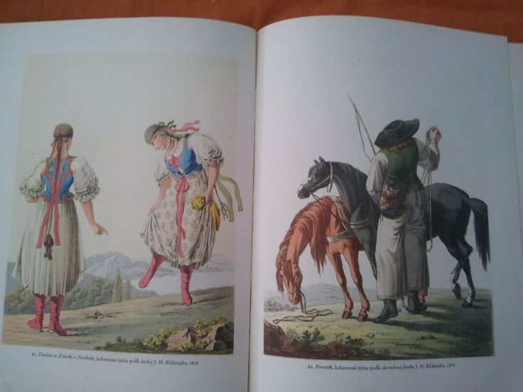 Left - Slovak girls, right - Slovak carer, 19th century.