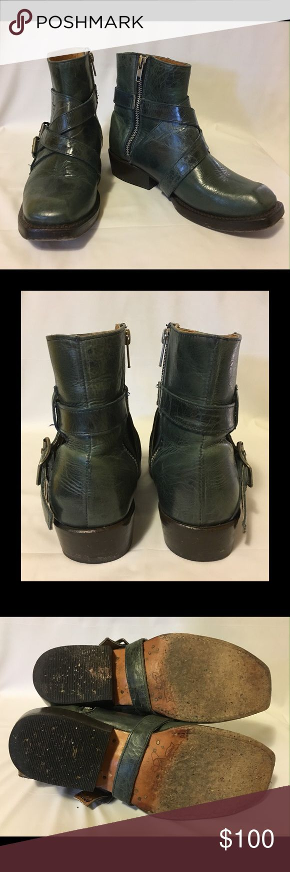 John Fluevog Earl of Warwick Lancaster Boots Amazing boots with a real attitude. This pair has been well worn but still has plenty of life left in them. These run large; men's 4 fits like a women's 7. John Fluevog Shoes