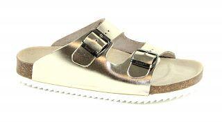 14225de4075 Metalic kolekce- módní zdravotní pantofle v metalických odstínech ...