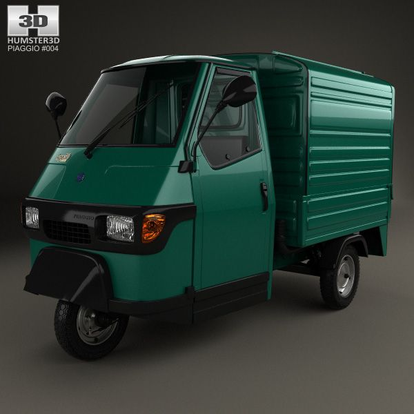 piaggio ape 50 1996 3d model from humster3d. price: $75