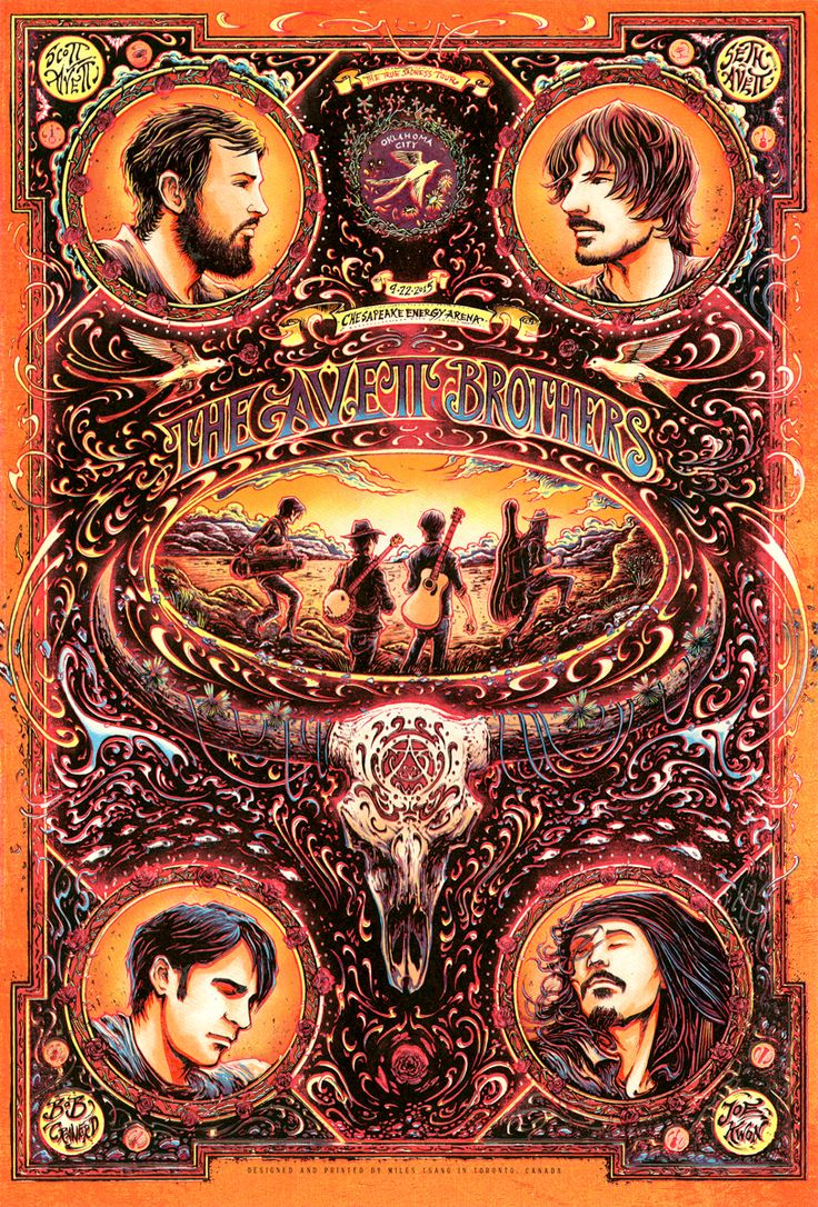 Miles Tsang  has created another outstanding poster for the recent Avett Brothers  concert in Oklahoma City last Thursday.   Miles ...