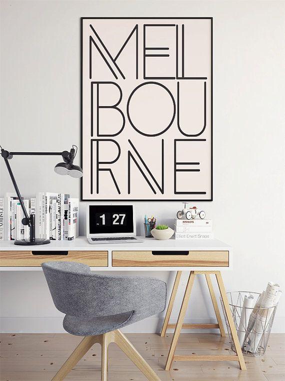 Melbourne, Melbourne Print, Melbourne Wall Art, Australia Poster, Australia Art, Melbourne Artwork, Typography Poster  Choose different color styles
