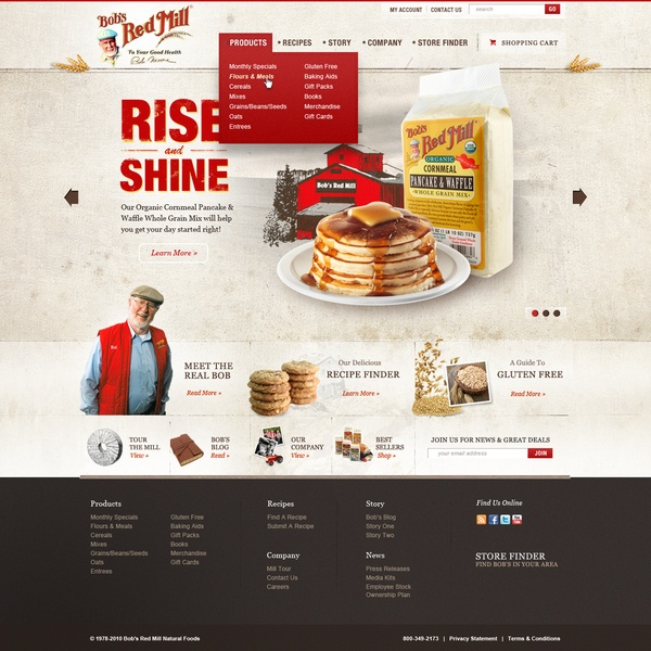 Bob's Red Mill by Josh Ashton, via #Behance #Webdesign
