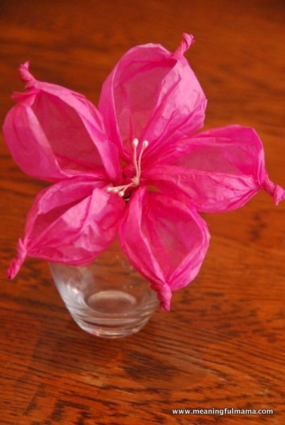Tissue Paper Flowers - I love this new (to me) take on the tissue paper flower...step by step tutorial