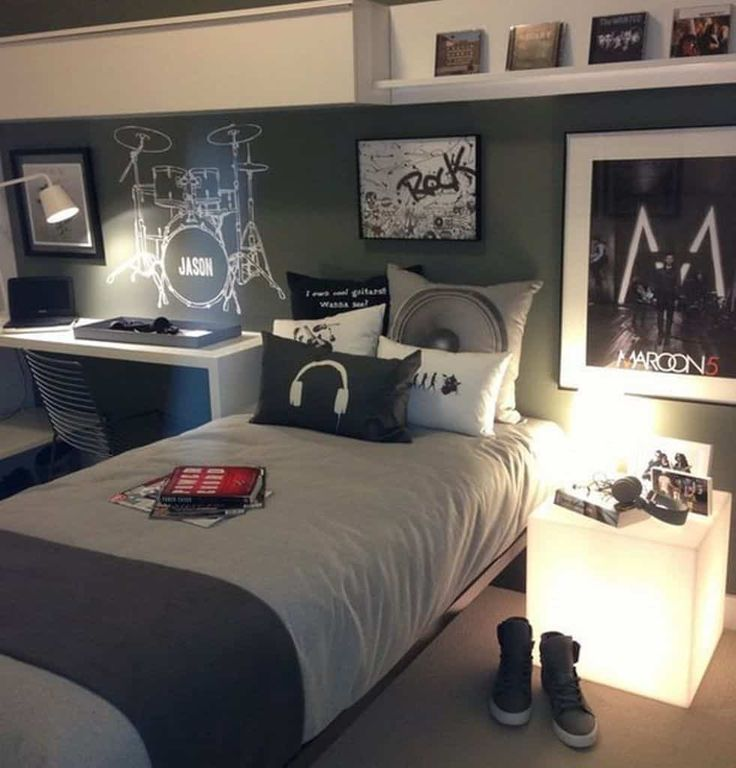 18 Brilliant Teenage Boys Room Designs Defined By Authenticity Homesthetics Inspiring Ideas For Your Home Boy Bedroom Design Boys Bedroom Decor Music Bedroom