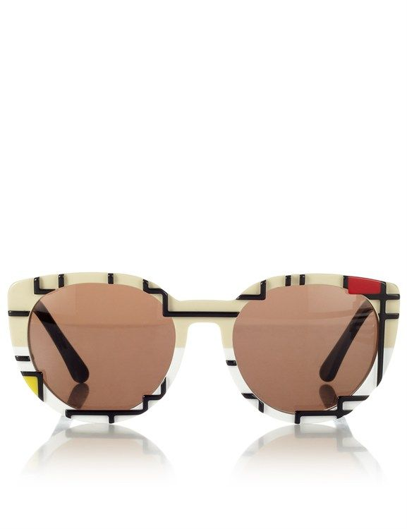 Cutler and Gross Mondrian cat-eye sunglasses, $575