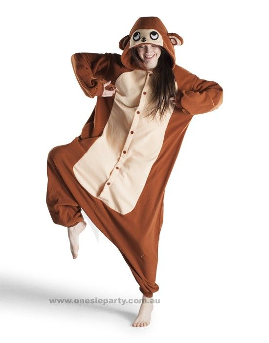 Adult Onesie - Monkey - Kigurumi Costume - Free Delivery