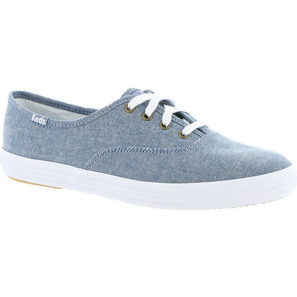 Keds Champion Seasonal Solids Women's Blue Oxford 6.5 B (1.270 UYU) ❤ liked on Polyvore featuring shoes, oxfords, blue, laced shoes, lace up shoes, keds footwear, laced up shoes and keds shoes