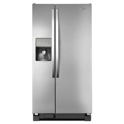 Whirlpool 21.2-cu ft Side-By-Side Refrigerator Single (Monochromatic Stainless Steel)