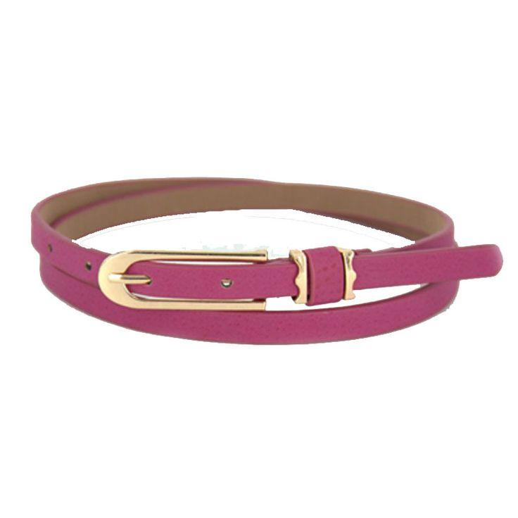 Top Sale Fashion Women Girl Candy Color PU Leather Thin Skinny Cummerbund Waist Belt Alloy Buckle Straps Waistband Wholesale alishoppbrasil