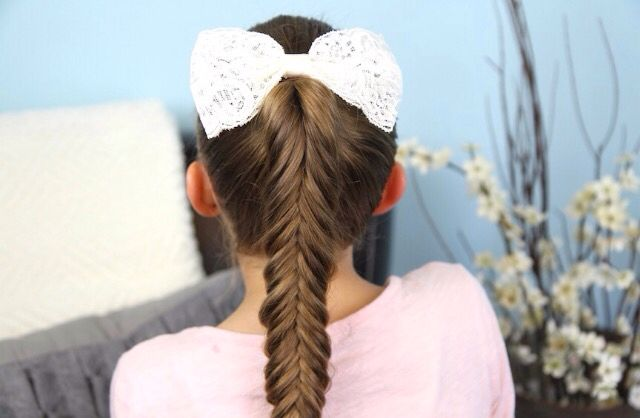 Fishtail pony......of course you gotta add the bow