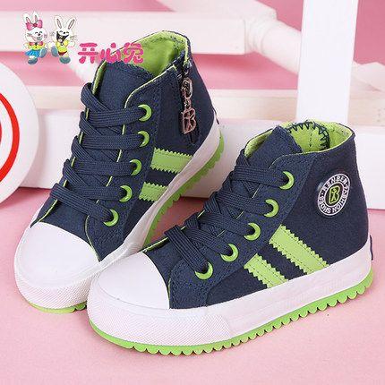 Рад кролика Детская обувь высокого верха обуви холст мальчиков и девочек 2015 новая волна спортивная обувь Весна обувь
