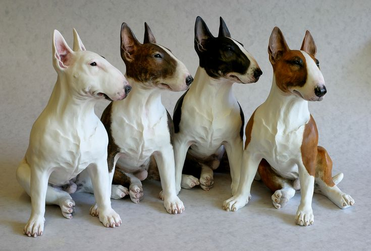 Ceramic bull terriers - a line of gorgeous/wonderful/amazing/beautiful DOGS!! I think I'm going to start a Bull Terrier rescue that is a couple states wide... lookin at these pups is motivation!!