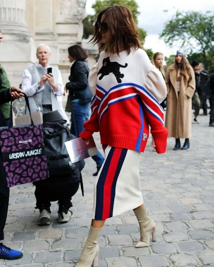 Christine Centenera in Gucci spotted on the street at Paris Fashion Week. Photographed by Phil Oh.