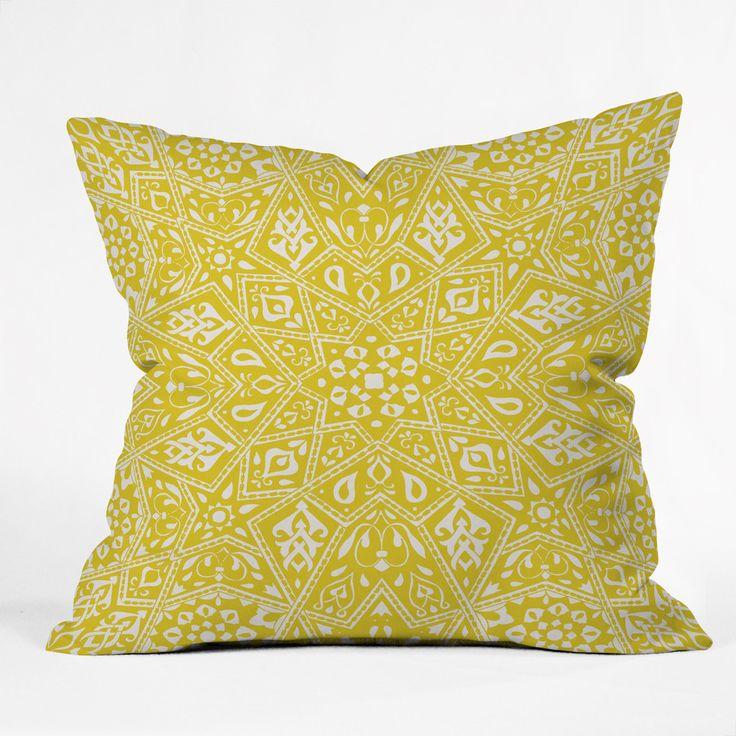 Sofa Table Aimee St Hill Amirah Yellow Throw Pillow