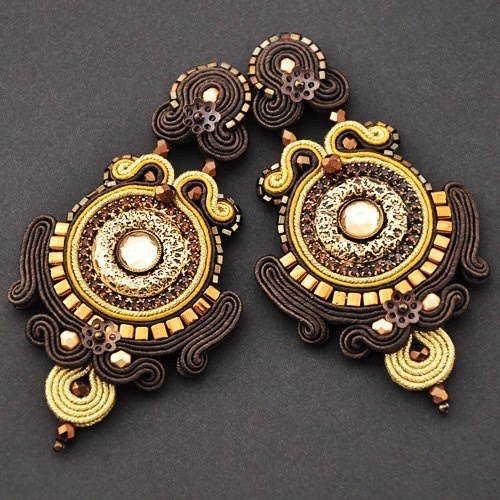 Sutasz artspirale #soutache #earrings