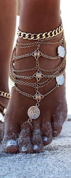 Summer jewellery Love the anklet                                                                                                                                                                                 Más