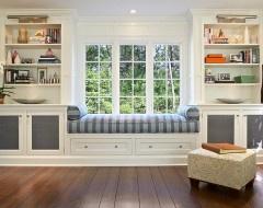 window seat & storage