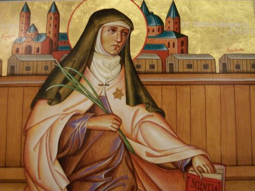 Icon of St. Edith Stein by Brother Claude Lane, OSB.